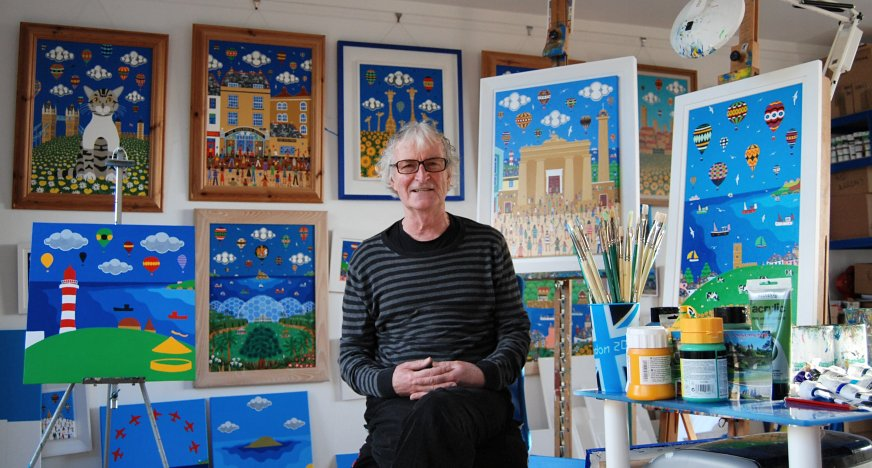 Brian Pollard in his Studio